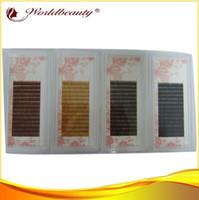 soie rouge foncé achat en gros de-Gros-meilleur 4 plateau par lot 5mm 6mm 7mm 8mm noir, brun foncé, brun moyen et brun clair, extensions de sourcil de soie brun rouge