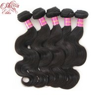 "Wholesale Wholesale Brazilian Hair Elite - Elites Hair Products 12""-28"" Brazilian Virgin Body Wave 100% Human Hair 5pcs lot Unprocessed Hair Free shipping By DHL"