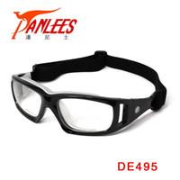 Wholesale Goggles Sports Glasses Eyewear Basketball - Wholesale-Panlees Adjustable PC Eyeglasses Sports Eyewear Prescription Goggle Basketball Handball Myopia Glasses