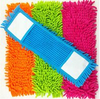 Wholesale Microfiber Floor Mops - Retail 1pcs Replacement Floor Microfiber Chenille Cleaning Mop Head Rectangle 4 colour blue mops floor cleaning Free Shipping