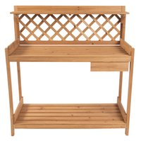 Wholesale Plant Construction - Potting Bench Outdoor Garden Work Bench Station Planting Solid Wood Construction