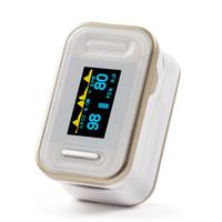 monitor de oxigênio venda por atacado-Yonker Portátil Oxímetro de Pulso Da Ponta Do Dedo Monitor De Saturação De Oxigênio No Sangue Médico Com Cordão CE Produtos Certificados FDA - Ouro