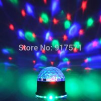 Contrôle Du Son Led Dmx Pas Cher-AC-commerce en gros 85 - 260V 48pc 3 LED 3W RGB LED DMX512 LED Sound Control RGB cristal Magic Ball Effet lumineux DMX Disco DJ Stage Lighting