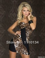 Wholesale Cheap Clubwear Free Shipping - On Sale Tailliertes Bandeau-Minikleid Mit Sexy Einblicken Leopard Dress Clubwear Cheap Price Free Shipping Fast Delivery 0456