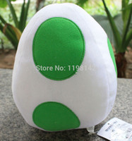 "Wholesale Yoshi Plush Sale - Wholesale-Hot Sales 8"" Super Mario Bros Plush Soft Doll - Yoshi Egg White"