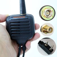 Wholesale Antenna Radio Baofeng - New Arrival Handheld Speaker Microphone With Antenna For Kenwood BaoFeng UV-5R UV-B6 UV-5RE TG-UV2 KG-UVD1P TYT Two Way Radio