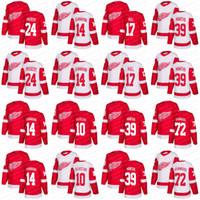 Wholesale Polyester Bobs - 2018 New Detroit Red Wings 10 Alex Delvecchio 72 Andreas Athanasiou 24 Bob Probert 14 Brendan Shanahan 17 Brett Hull Hockey Jerseys