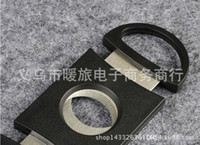 Wholesale Wholesale Cigar Cutters - Pocket Cigar Cutter Plastic&Stainless Steel two Blades Scissors Cigar knife good gifts free shipping via epacket