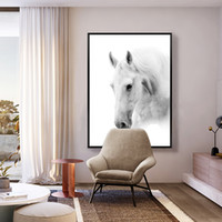 Promotio de vendas Simples White Horse Home Pintura decorativa Artesanato Wall Art Paintings Mural de moda