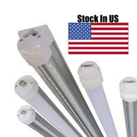 Wholesale Led Lights Bulk - wholesale 8 ft fa8 led light bulbs r17d 240cm 45W 5000LM t8 led tubes milky Frosty cover 6000-6500k 25pcs per lot bulk