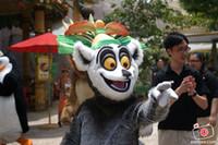 personagem de desenho animado de garrafa venda por atacado-madagascar lemur julien traje da mascote fancy dress cosply personagem dos desenhos animados do traje do carnaval mascotte kits tema annime 90002