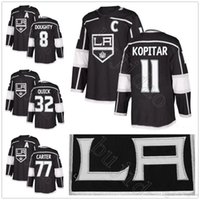 2018 Nueva temporada LA 8 Drew Doughty 11 Anze Kopitar 32 Jonathan Quick 77 Jeff Carter Home Black Los Angeles Kings Hockey Jerseys