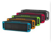 tablet için müzik hoparlörü toptan satış-SC208 Kablosuz Bluetooth Hoparlörler kablosuz mini hoparlör için taşınabilir müzik Bas Ses Subwoofer Hoparlörler Iphone Akıllı telefon ve Tablet PC