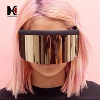 Nuevo Llega Very Big Integrated Lens Women Half Frame Sunglasses Oversize Men Goggle Glasses UV400 with Protection