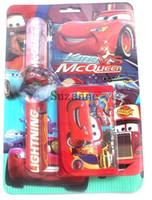 Wholesale Kids Battery Car Wholesalers - 20 set KIDS cars logo slap watch& wallet combo pack Christmas birthday stocking gift free shipping