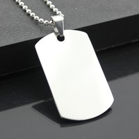 Wholesale Cool Military - Wholesale 12pcs Cool Military Army Style Stainless Steel Polished Dog Tag Charm Pendant Bead Chain Necklace Gift MN271