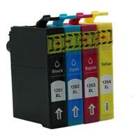 Wholesale Epson Stylus Workforce - free shipping 8PCS 2SET T1261 T1262 T1263 T1264 compatible Ink inkjet cartridge for epson stylus NX330 430 Workforce 520 printer