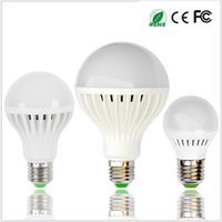 Wholesale Led 7w E27 Free Shipping - Free Shipping Ultra Bright Quality LED Lights AC 110V 220V 3W 5W 7W 9W 12W Bulb E27 B22 E14 LED Bulb Light Globe Lamp Energy Saving Lighting
