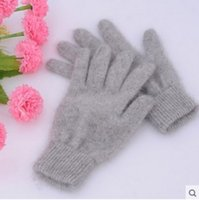 Wholesale Cashmere Fingerless Gloves Wholesale - Wholesale-Fall and Winter Mink cashmere of Gloves for Men and Women short paragraph Gloves Warm couple Outdoor gloves Warm winter