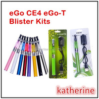 эго т комплект зеленый оптовых-E сигареты CE4 простой пакет наборы CE4 распылитель eGo-T 650mah 900mah 1100mah батарея в белом или зеленом розничном блистере упаковка различных цветов