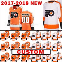 Wholesale Michael New - Custom 2018 New Philadelphia Flyers 19 Nolan Patrick 15 Jori Lehtera Jersey 37 Brian Elliott 11 Travis Konecny 12 Michael Raffl Jerseys