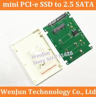 disco pci venda por atacado-Atacado- 10PCS Frete Grátis mini PCI - e SSD para 2.5 'caixa de disco rígido SATA Alta Qualidade mini PCI - e para 2.5' conversor adaptador