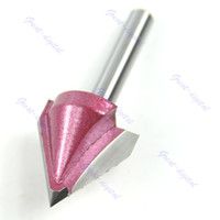 Wholesale Engraving V Bits - Free Shipping Router CNC Engraving V Groove Bit 6mm x 22mm x 60 Degree