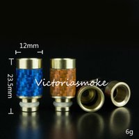 Wholesale price carbon - Factory Price Carbon Fiber & Stainless steel Drip Tips 510 EGO Wide Bore Drip Tip for DCT RDA RBA Aerotank Protank E Cig atomizer ego e cigs