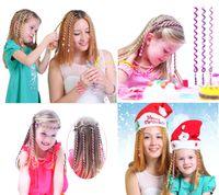 ingrosso pezzi di capelli per i bambini-Copricapo genitore-bambino Copricapo colorato per bambini e adulti con elastico / Anello per capelli / regali holoday Abito per capelli magici fata 6 pezzi 7 pollici