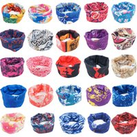 Wholesale Headband Bike Cycling - Wholesale-Outdoor Sport Bike Bicycle Cycling Riding Magic Headband Sports Turbans Cycle Neck Tube Warmer Scarf Scarves Headwear Bandanas