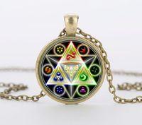 Wholesale Zelda Glass - Legend of Zelda Triforce Glass Cabochon Pendant & Necklace bijouteriegift Jewelry CN-464
