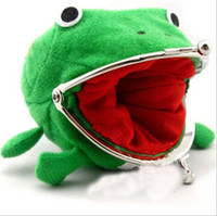 Wholesale Naruto Coin Wallets - 2015 Naruto Cute Frog wallets children kids Frogs Plush Coin zero Purse Uzumaki pouch handbag cosplay goods with Iron button