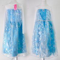 Wholesale Kids Fairy Dress Wholesale - Best Quality Frozen Dress 2017 Girl Party Dress Princess Costume Kids Girls Elsa Dress Lace Long Sleeve 1701012