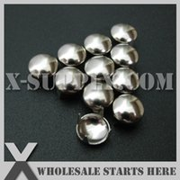 Wholesale Wholesaler For Leather Jackets - Free Shipping Punk DIY Metal Round Dome Stud 8mm in Silver Nickel with 4 Prong Claws for Leather Craft Bag Shoe Clothing Jacket