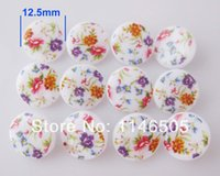 Wholesale China Wholesale Buttons - 100pcs Printed Button 12.5mm Shank Button Sewing Shirt Button Woman china Buttons bulk Garment kids Accessories Fasteners zk0267
