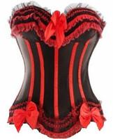 meia sexy quente livre venda por atacado-Atacado-Frete grátis Hot Sexy Lace 5colors Desossada Espartilho Bustier Lingerie 8068 Pequeno Para Plus Size 2XL !!! Em estoque