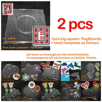 Wholesale Beads Pegboards - Wholesale-2016 New Arrival Papelaria 100870 Pegboards For 5mm Perler Beads Hama Fused ~ Clear Linkable Large Peg Board + Free Shipping