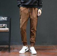 ingrosso maschio caldo giapponese-Nuove vendite calde autunno giapponese marea maschio ispessimento pantaloni di velluto a coste pantaloni casual da uomo sciolto pantaloni per il tempo libero maschio