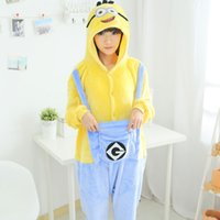 New Hiver 2015 de nuit de Noël Hoodie Pyjamas Adulte Despicable Me Minion Costume Onesie Cosplay adultes Minion Pyjamas