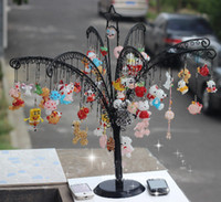 Wholesale Christmas Jewelry Display Stand Rack Holder with Holes tree shape Metal Stand for Earrings cell phone jewelry crystal accessories