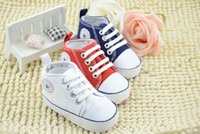 Wholesale white canvas sneakers wholesale - 10% off 2015 cheap wholsale Kids Baby Sports Shoes Boy Girl First Walkers Sneakers Baby Infant Soft Bottom walker Shoes 5pairs 10pcs