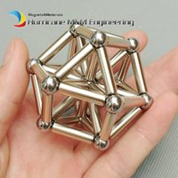 erdungs-kits großhandel-1 Set Magnetische Struktur Spielzeug Kit NdFeB Magnetische Stangen + Stahlkugeln Magisches Spielzeug Set Permanent Seltene Erden Magneten