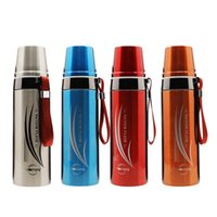 Wholesale Thermo Mug Stainless Steel - Double Wall Thermo Mug 650ML Bullet Vacuum Bottle Stainless Steel Flasks Business Travel Outdoor Sports Protable Vacuum Flask LJJO3776
