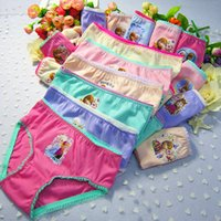 Wholesale Hot Kids Panties - 60 pcs lot 2016 hot sellgirl panties briefs girls underwear kids underwear briefs for girls 3--12 years