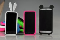 Wholesale Iphone Silicone Camera Case - Universal Silicone Luminous Bumper Frame Mickey Rabbit Crown Soft Case Rubber Bracelet for iPhone 6s Samsung s6 Edge Plus HTC Nokia Camera
