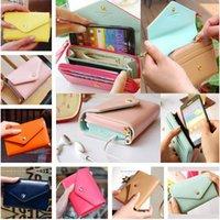 Wholesale Crown Pouch Flip - Donbook Crown Smart Pouch Coin Purse Flip PU Leather Case Women Wallet For IPhone 4S 5S 6 6S plus Samsung S6 S7 S5