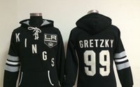 Wholesale Field Factory - Factory Outlet, Ice field game Hockey black hoodies sport women new style LA Kings #99 Wayne Gretzky embroidery logos stitched