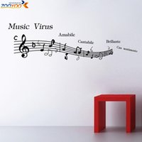 Wholesale Music Vinyl Wall Art - music note wall decal zooyoo8322 vinyl wall decals self adhesive boys girls wall art living room home decoration