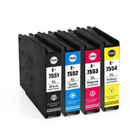 Wholesale Pigment Ink Cartridge For Epson - 4 pack High yield Chipped Compatible ink cartridge with PIGMENT INK for T7551XL T7552XL T7553XL T7554XL for WorkForce Pro WF-8090 DTW