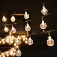 4m 40pcs Leds Round Transparent Ball Diy Led String Light Decoration, 3aa Battery Operated Party Supplies, Home, Garden Decoration